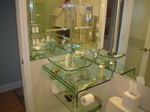 all glass sink